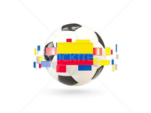 Soccer ball with line of flags. Flag of colombia Stock photo © MikhailMishchenko