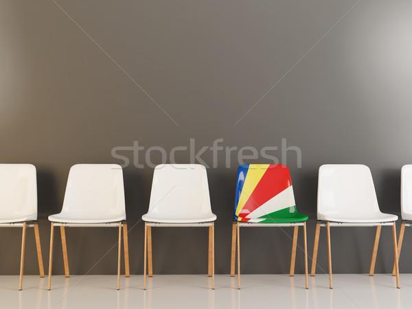 Chair with flag of seychelles Stock photo © MikhailMishchenko