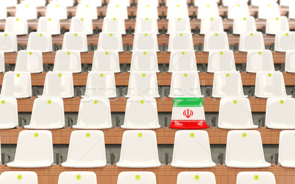 Stadium seat with flag of iran Stock photo © MikhailMishchenko