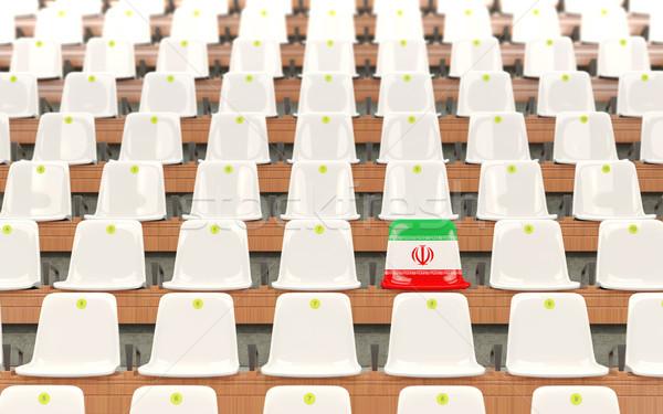 Stadion ülés zászló Irán csetepaté fehér Stock fotó © MikhailMishchenko
