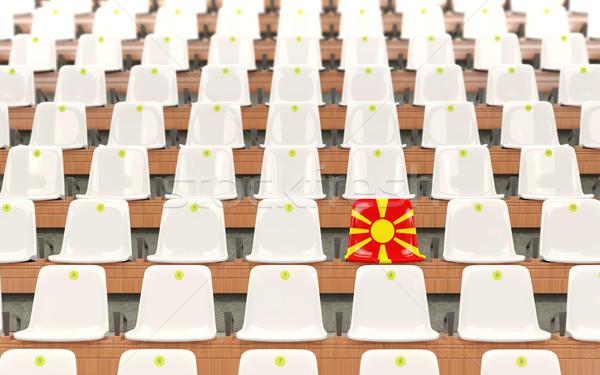 Stadium seat with flag of macedonia Stock photo © MikhailMishchenko