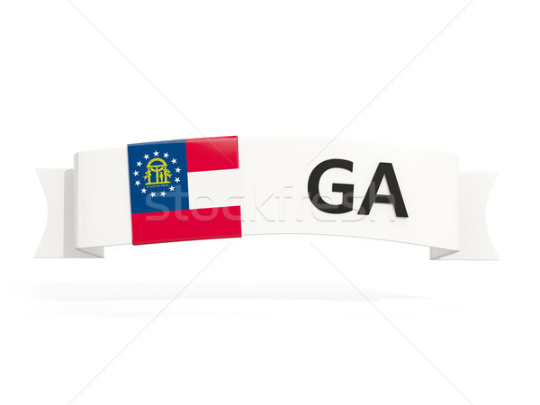 georgia state flag on banner with postal abbreviation isolated o Stock photo © MikhailMishchenko