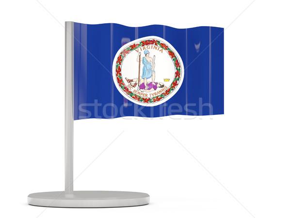 Pavillon broches Virginie États-Unis locale drapeaux Photo stock © MikhailMishchenko