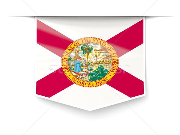 Florida vlag vierkante label schaduw Verenigde Staten Stockfoto © MikhailMishchenko