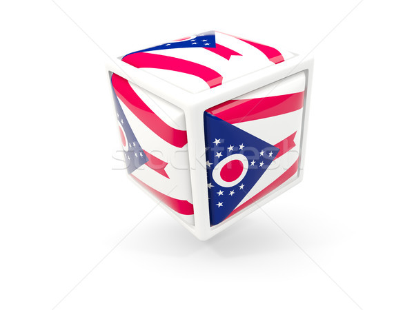 Ohio bandera cubo icono Estados Unidos local Foto stock © MikhailMishchenko