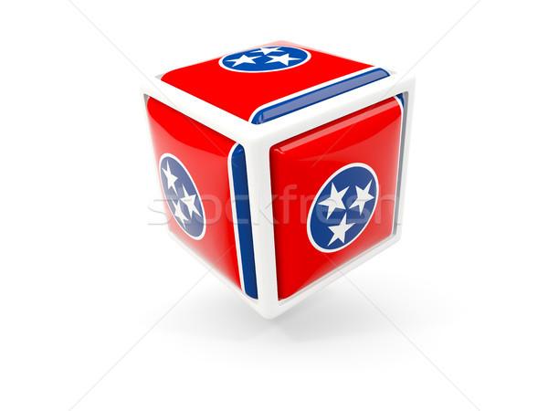 Tennessee pavillon cube icône États-Unis locale Photo stock © MikhailMishchenko