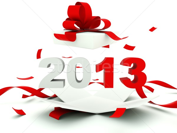 2013 új év bent ajándék tél ajándék Stock fotó © MikhailMishchenko