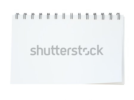 Vide notepad isolé blanche informations carte Photo stock © MikhailMishchenko