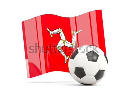 Flag of isle of man with football in front of it Stock photo © MikhailMishchenko