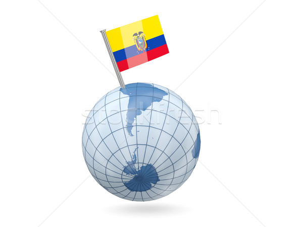 Globe with flag of ecuador Stock photo © MikhailMishchenko
