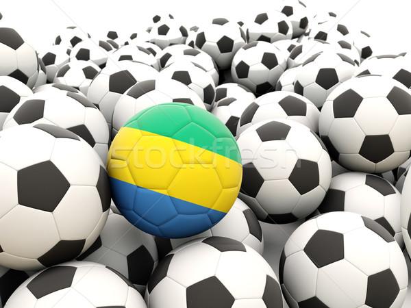 футбола флаг Габон регулярный лет Сток-фото © MikhailMishchenko