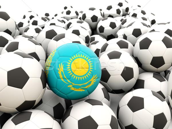 Futebol bandeira Cazaquistão regular verão Foto stock © MikhailMishchenko