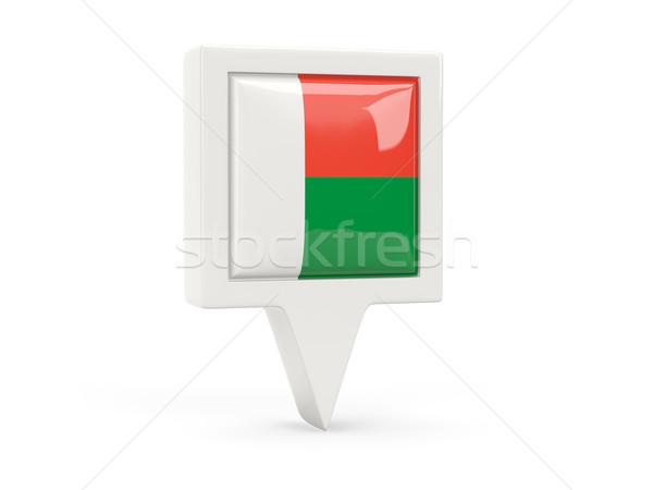 Square flag icon of madagascar Stock photo © MikhailMishchenko