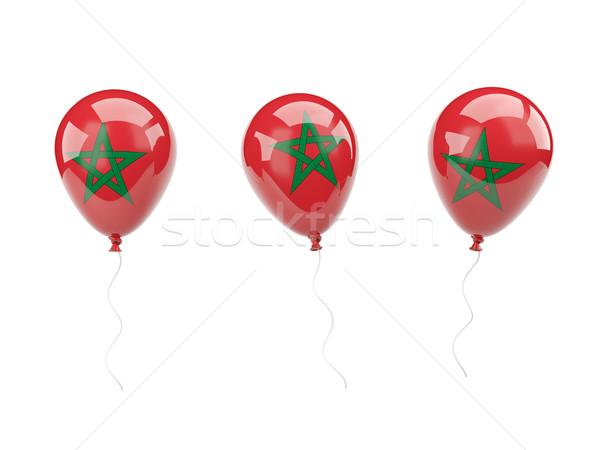 Air balloons with flag of morocco Stock photo © MikhailMishchenko