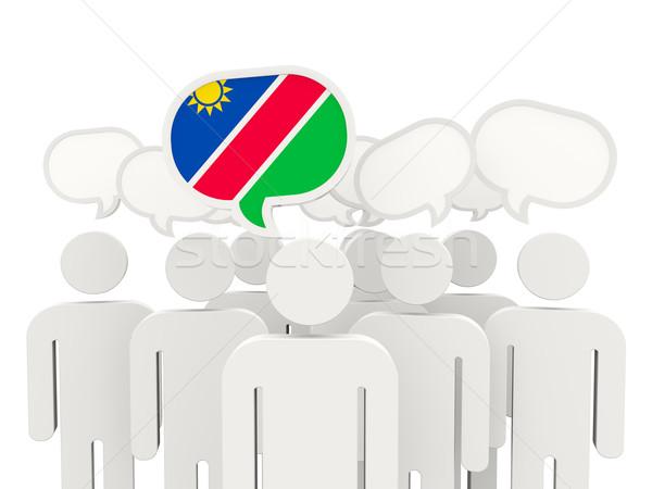 люди флаг Намибия изолированный белый заседание Сток-фото © MikhailMishchenko