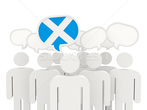 People with flag of scotland Stock photo © MikhailMishchenko