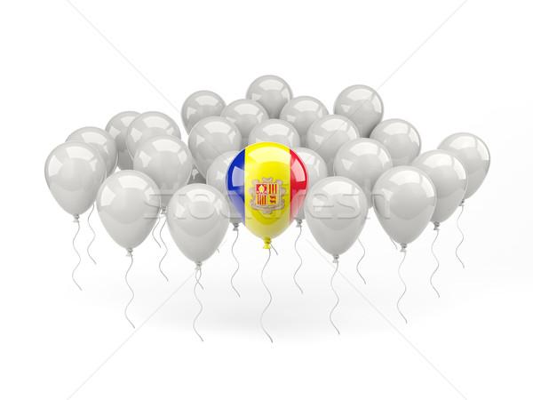 Air balloons with flag of andorra Stock photo © MikhailMishchenko