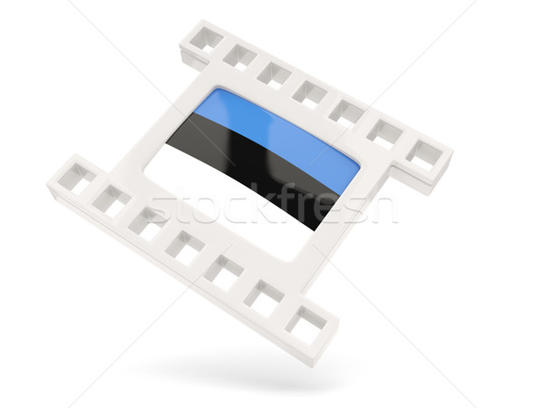 Movie icon with flag of estonia Stock photo © MikhailMishchenko