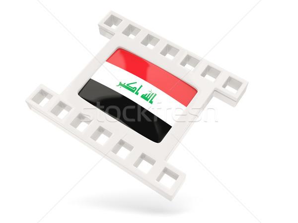 Film icon vlag Irak geïsoleerd witte Stockfoto © MikhailMishchenko