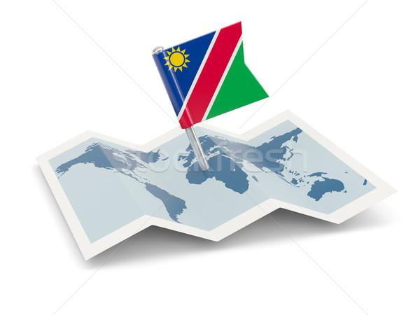 карта флаг Намибия изолированный белый Сток-фото © MikhailMishchenko