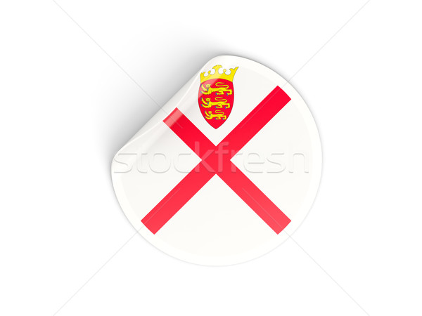Round sticker with flag of jersey Stock photo © MikhailMishchenko