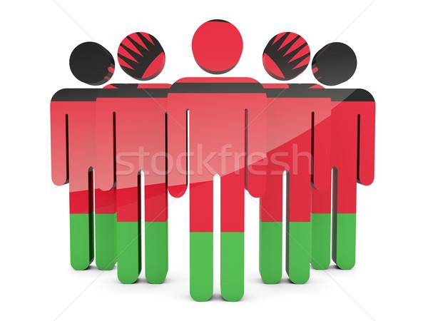 люди флаг Малави изолированный белый толпа Сток-фото © MikhailMishchenko