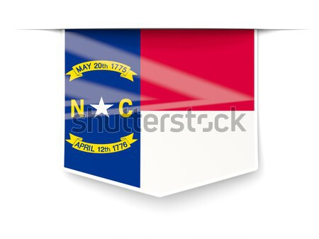 Square label with flag of curacao Stock photo © MikhailMishchenko