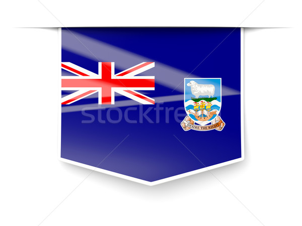 Tér címke zászló Falkland-szigetek izolált fehér Stock fotó © MikhailMishchenko