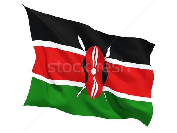 Banderą Kenia odizolowany biały Zdjęcia stock © MikhailMishchenko