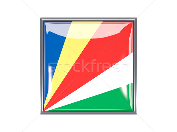 квадратный икона флаг Сейшельские острова металл кадр Сток-фото © MikhailMishchenko