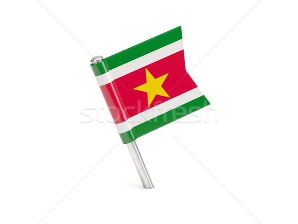 флаг Pin Суринам изолированный белый Сток-фото © MikhailMishchenko