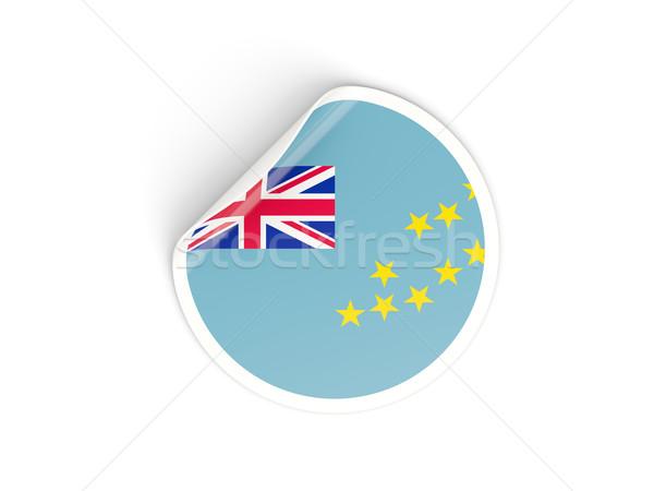 Adesivo bandeira Tuvalu isolado branco viajar Foto stock © MikhailMishchenko