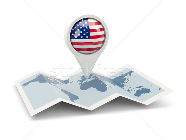 Round pin with flag of united states of america Stock photo © MikhailMishchenko