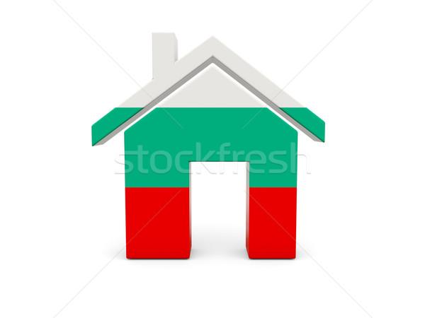 Domu banderą Bułgaria odizolowany biały wyszukiwania Zdjęcia stock © MikhailMishchenko