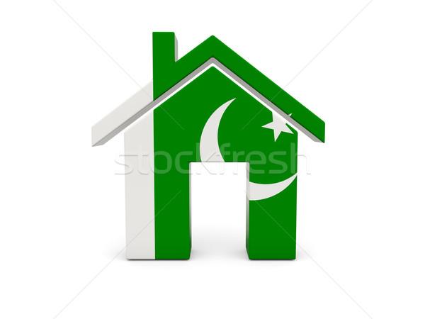 Ev bayrak Pakistan yalıtılmış beyaz arama Stok fotoğraf © MikhailMishchenko