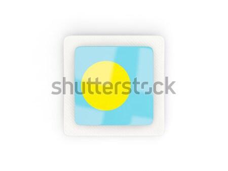 フラグ ラベル パラオ 孤立した 白 世界 ストックフォト © MikhailMishchenko