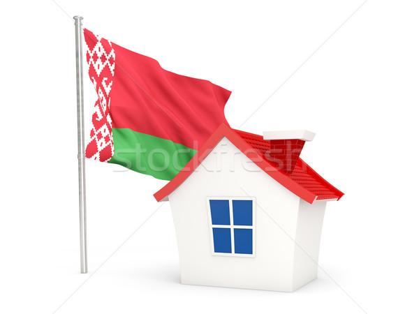 Casa bandera Bielorrusia aislado blanco casa Foto stock © MikhailMishchenko
