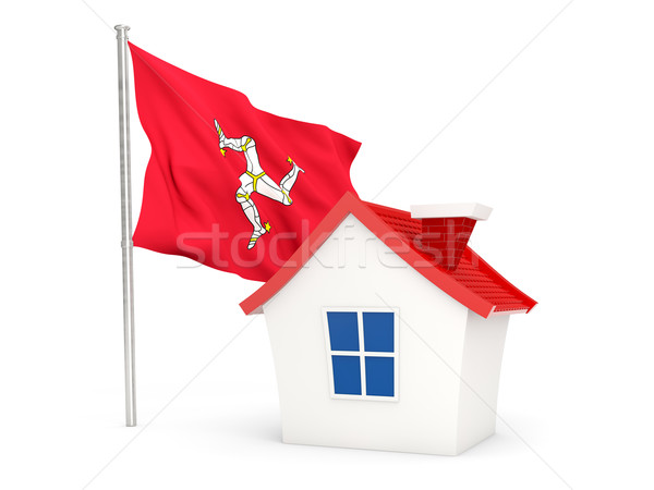 House with flag of isle of man Stock photo © MikhailMishchenko