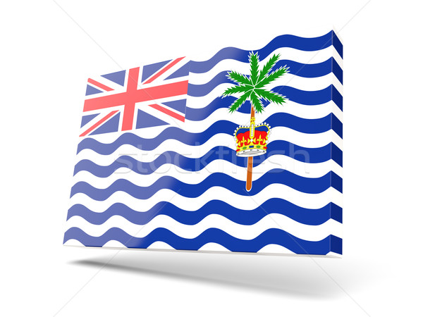 Square icon with flag of british indian ocean territory Stock photo © MikhailMishchenko