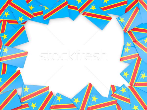 Marco bandera democrático república Congo aislado Foto stock © MikhailMishchenko