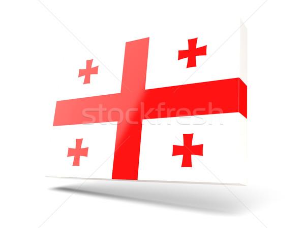 Square icon with flag of georgia Stock photo © MikhailMishchenko