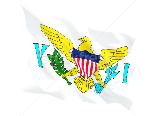 Vlag Virgin Islands geïsoleerd witte Stockfoto © MikhailMishchenko