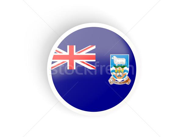 Matrica zászló Falkland-szigetek izolált fehér utazás Stock fotó © MikhailMishchenko