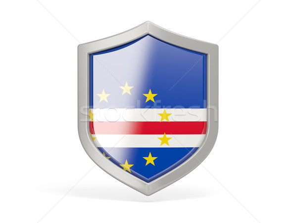 Shield icon with flag of cape verde Stock photo © MikhailMishchenko