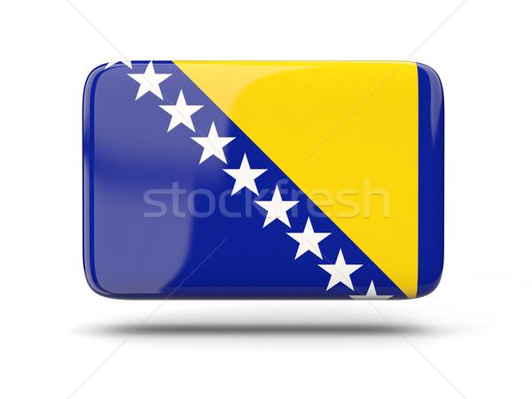 Cuadrados icono bandera Bosnia Herzegovina sombra signo Foto stock © MikhailMishchenko
