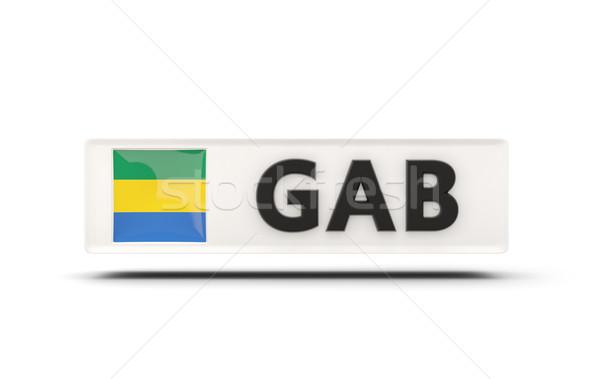 квадратный икона флаг Габон iso Код Сток-фото © MikhailMishchenko
