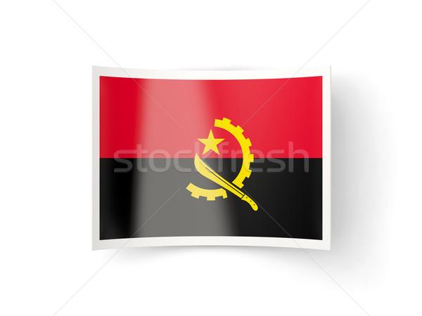 икона флаг Ангола изолированный белый стране Сток-фото © MikhailMishchenko