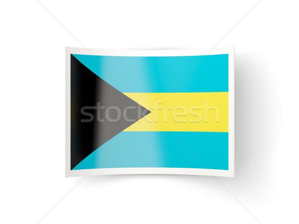 икона флаг Багамские острова изолированный белый стране Сток-фото © MikhailMishchenko