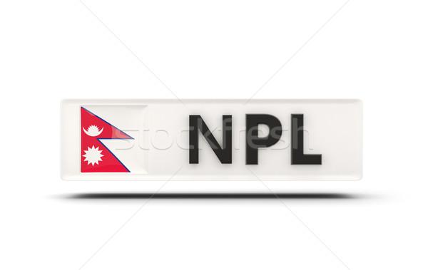 квадратный икона флаг Непал iso Код Сток-фото © MikhailMishchenko