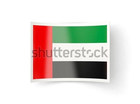 Bent icon with flag of united arab emirates Stock photo © MikhailMishchenko